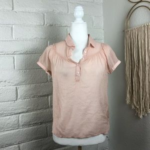 One Clothing peach sheer top